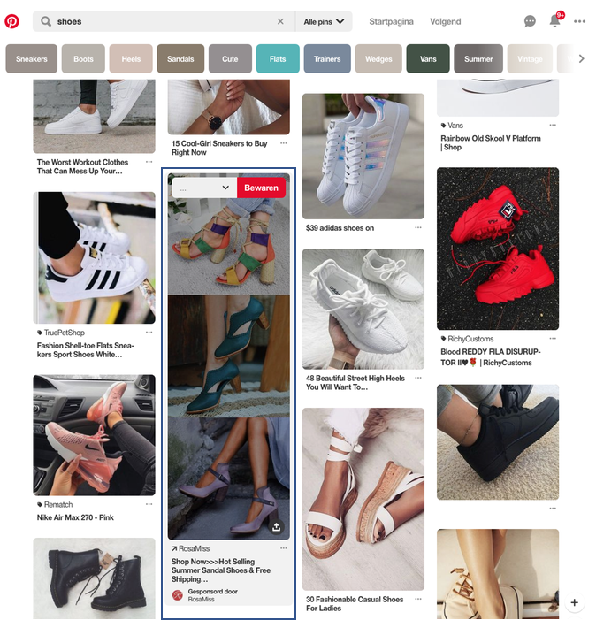 Search Feed Pinterest
