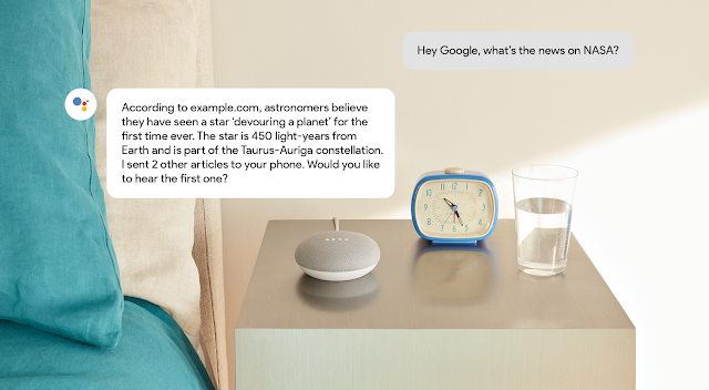 voorbeeld Speakable feature Google